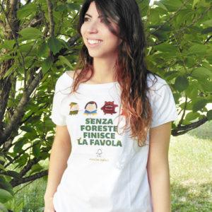"T-shirt donna ""Senza foreste finisce la favola"""