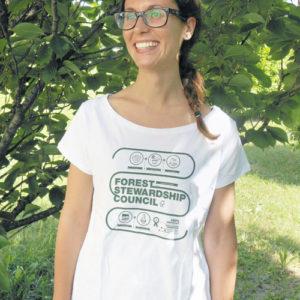 T-shirt donna infografica / White
