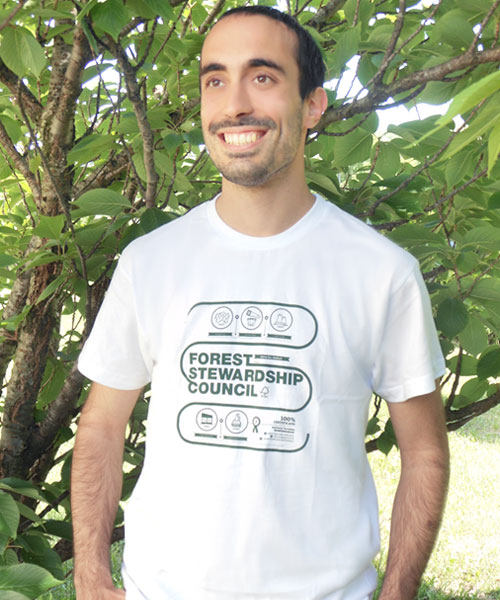 T-shirt uomo infografica / White