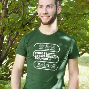 T-shirt uomo infografica / FSC Green